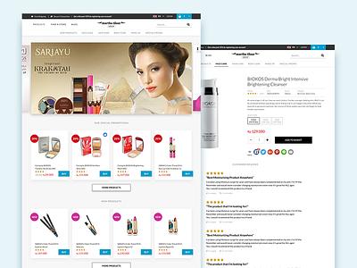 Martha Tilaar Online Shop ux web shop e-commerce sariayu decorative up make cosmetics tilaar martha