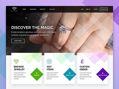 Diamonds Jewelry E-commerce magic ring diamond jewelry e-commerce