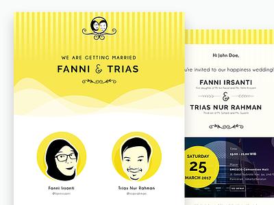Fatriwed.com - My Wedding Website E-invitation [Fanni & Trias] jakarta trias fanni fatriwed yellow love invitation wedding