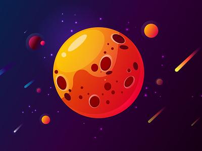 space illustration // work in Adobe Illustrator vector uiux designer ui uiux uiuxdesign designer webdesign web design illustrator illustration