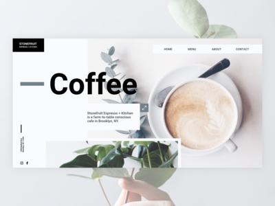 Concept for a Stone Fruit Espresso coffee house