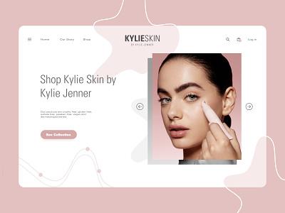 KYLIE SKIN REDESIGN // LANDING PAGE web design uiux designer uiux design cosmetics cosmetic uiuxdesign uiux designer webdesign web ui design