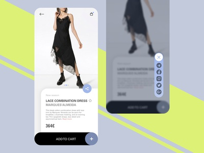 farfetch redesign // social share