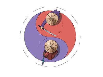 Yin and yang design chinese culture yin and yang dribbble digital art digital illustration vector character illustration