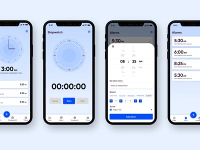 Clock app redesign concept