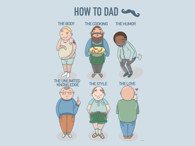 How to dad fun art poster holidays occasions procreate fatherhood humor fun dads dad fathers day