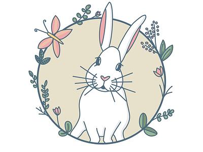 Bunny illustration animals plants procreate bunny illustration