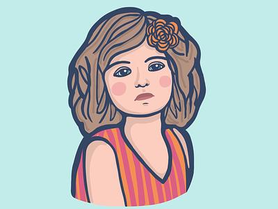 Sad Girl freelancer illustrator illustration digital art flower procreate girl
