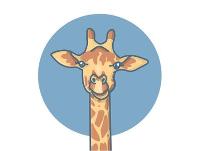 Giraffe kids blue animals digitalart procreate wildlife giraffe