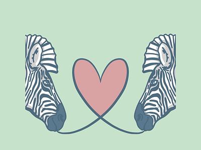 Zebras digitalart procreate love zebra illustration heart wildlife