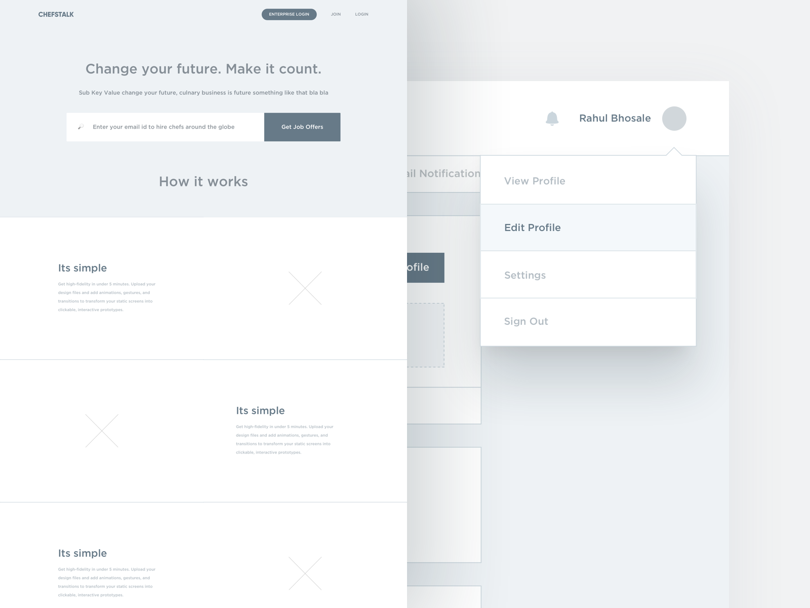Rahul Design / Projects / Chefstalk Job Portal | Dribbble
