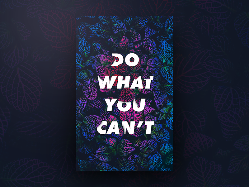 Do What You Cant. ux ui design poster