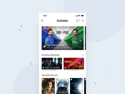 Hotstar - Specials ios interactive motion animation product design interaction mobile mograph ux ui