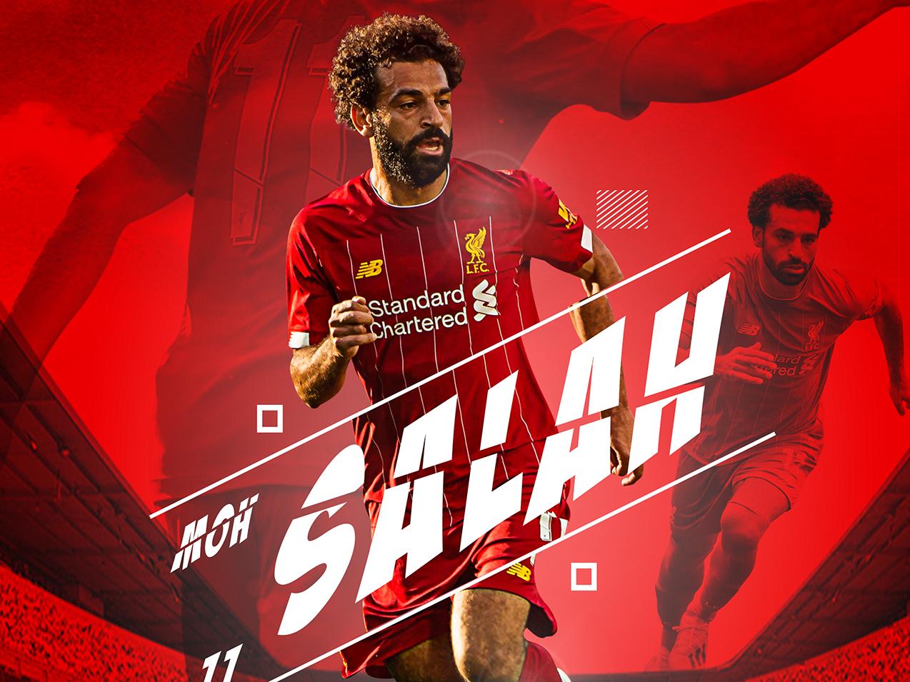 Salah photoshop sports poster sports design poster design salah liverpool fc premierleague