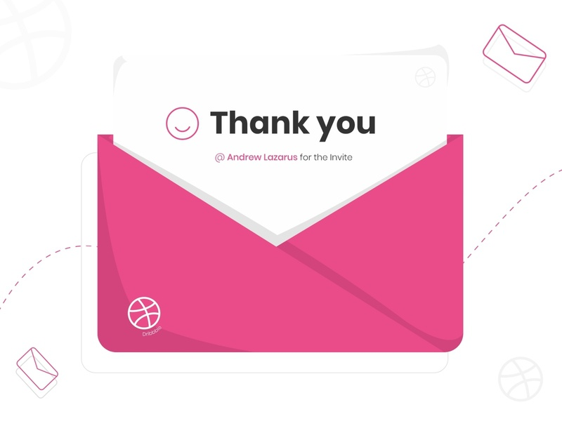 thank you note thanks dribbble