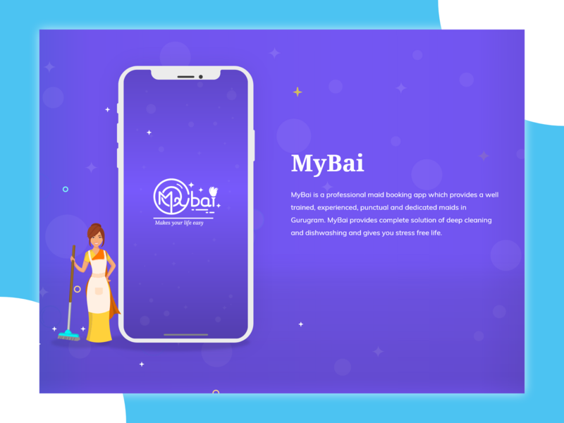 MyBai app IOS vector illustration uxdesign user interface uiux uidesign mybai maid booking app
