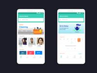 MyBai : App for Maid Booking ( Home Screens )