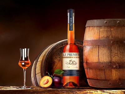 "Fruit brandy ""LE PRUINER SAUVAGE"" illustration graphic design ilustrator fruit design alcohol brandy"