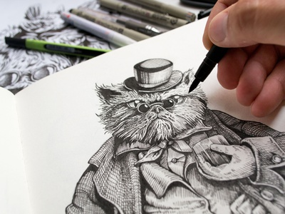 Whisky cat (graf.) graphic branding design illustration