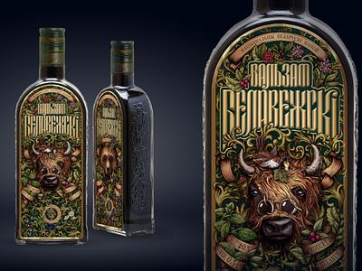 "Balsam ""Belovezskiy"" branding alcoholdesign alcohol designspirits belarusianspirits belarusiandesign spirits"