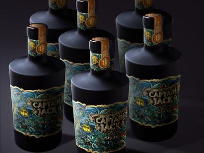 Captain Jack Rum rum belarusdesign typography branding vector illustrator illustration belarus brand design alcohol spirit design