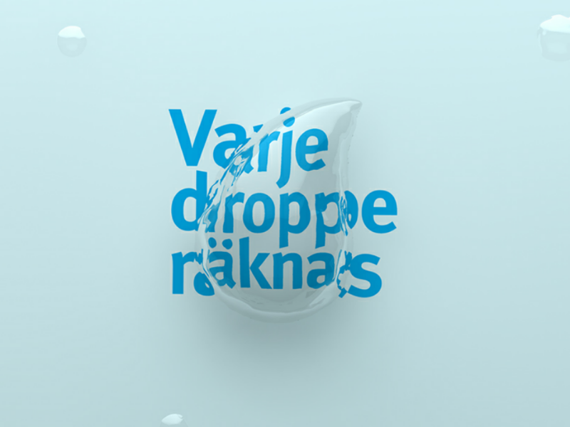 Every drop counts advertisement graphic design cinema 4d campaign