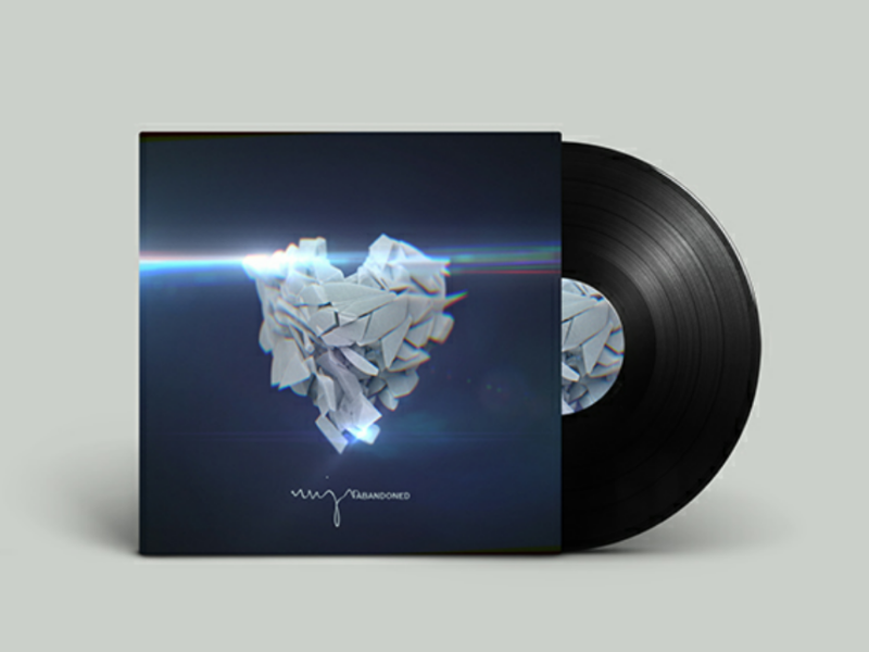 Nujv - Abandoned cover art heartbroken heart graphic design record cinema 4d cover art