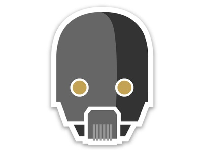 K2SO sci-fi robots stickers star wars