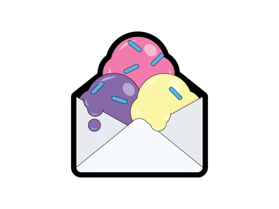 Email with Sprinkles emailgeeks sticker envelope sprinkles ice cream email