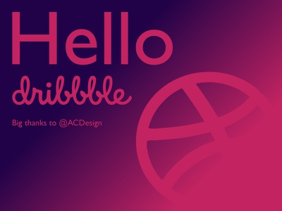 Hello Dribbble thanks debut hello