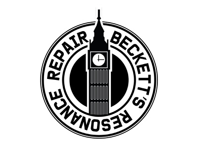 Beckett's Resonance Repair design logo illustration