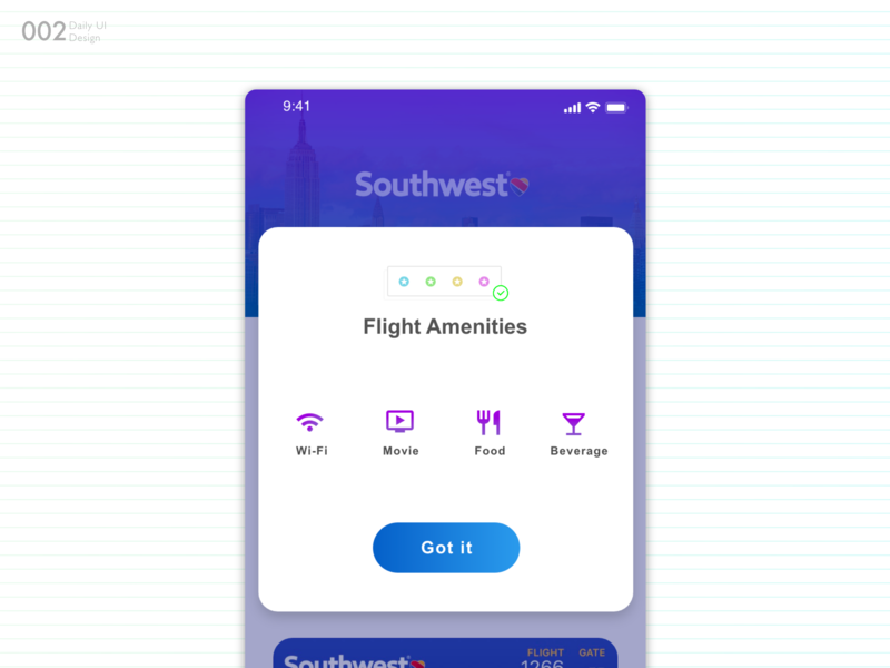 Daily Design #002.  Pop Up UI adobe xd xd pop up airline ui daily challange ui  ux dailui