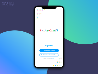 #003 Daily UI Sign Up