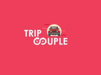 Trip couple logo design concept