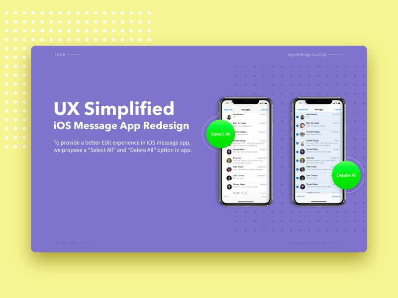 UX Simplified iOS Message App Redesign concept intraction casestudy app design uxui ui ux message apple ios redesign ui design ui  ux adobe xd