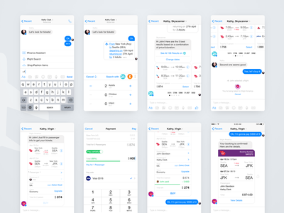 Messenger Bots & Partial payment Concept 2 flight travel interaction ux conversational commmerce chatbot facebook messenger chat bot ai