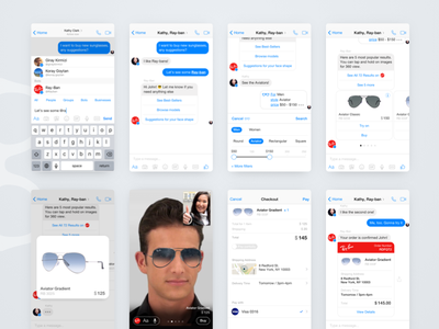 Messenger Bots & Augmented Video Call Concept 2 shopping augmented reality video e-commerce ux messenger interaction chat conversational commerce chatbot bot ai