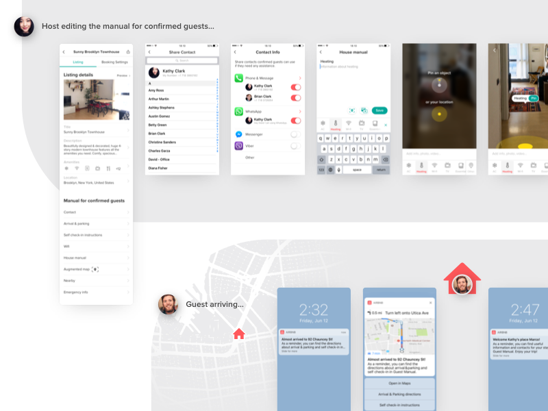 Airbnb Guest Manual Concept augmented reality ar ux makeitbetter principle navigation location airbnb travel