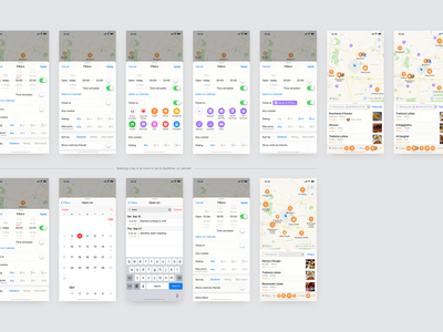 Apple Maps Concept principle iphone app filter ios ux restaurant search map