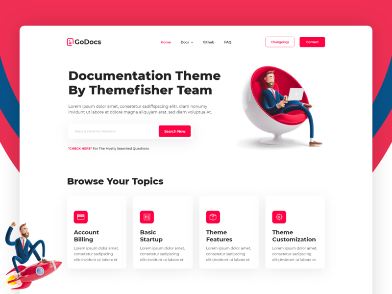 GoDocs Documentation Website web landing page web-design plugins-documentation api-documentation knowledge-base docs documentations-design documentation-website documentation
