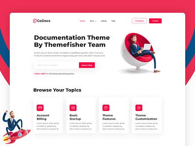 GoDocs Documentation Website web landing page web-design plugins-documentation api-documentation knowledge-base docs documentations-design documentation-website documentation