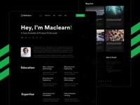 GoFolium - Publication Website Theme data scientist web design clean onepage portfolio dark blog personal resume publication