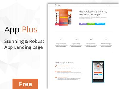App-Plus App Landing Page clean app design web ui landing-page