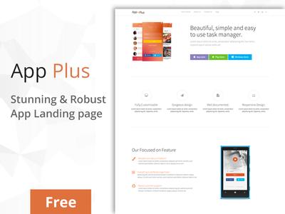 App-Plus App Landing Page