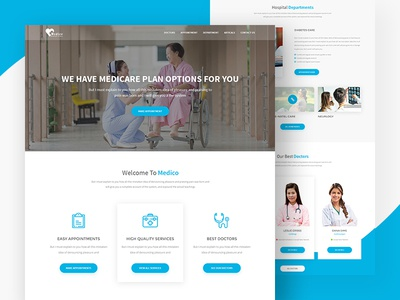 Medico Multipage Medical Template medical hospital healthcare health template health doctor clinical clinic appointment ux ui