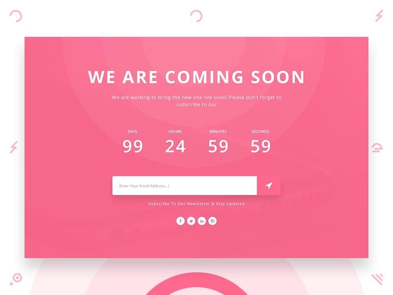 Coming Soon Landing Page onepage coming soon landing page