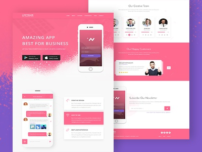 Lifetrakr-App Landing Page Template onepage app landing-page app-landing-page