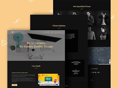 Fiction Agency Website Template (HTML Version) dark website agency