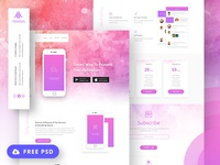 Amniax FREE App Landing Page.