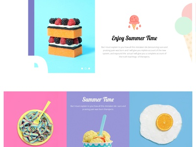 Icecream Landing Page  design landing page clean